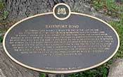 Davenport Rd. historical plaque by Tollkeeper's Cottage